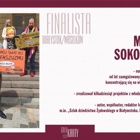 Mariusz Sokołowski finalista Gali KARTY