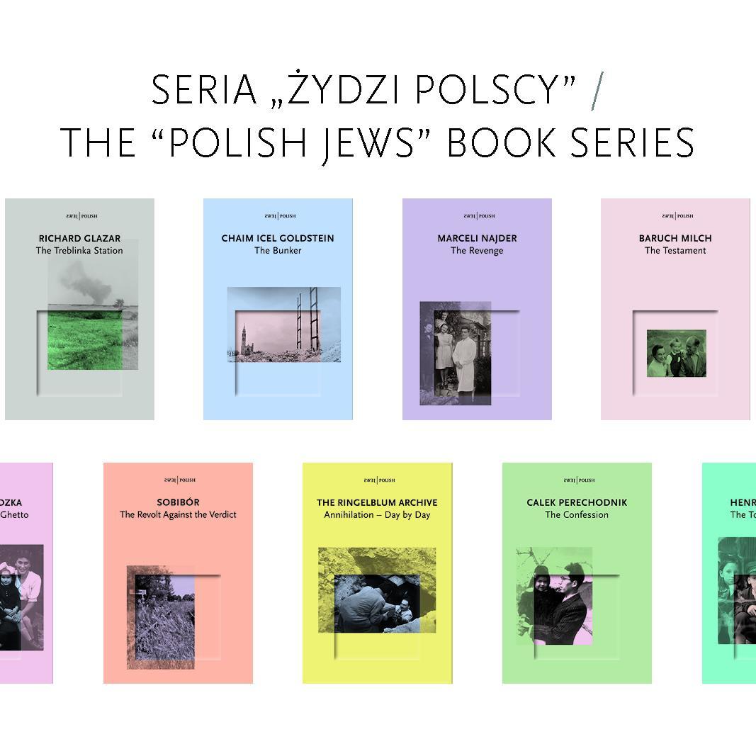 """okładki z serii """"Żydzi polscy"""""""