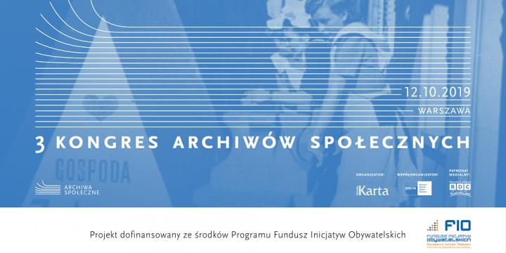 banner Trzeci Kongres Archiwów Społecznych