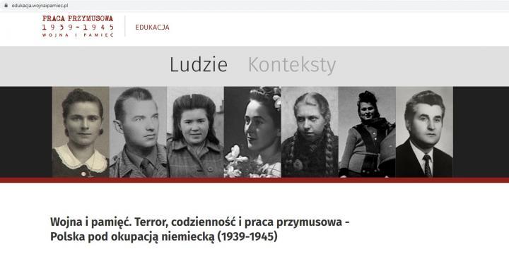 zrzut ekranu portalu Wojna i pamięć