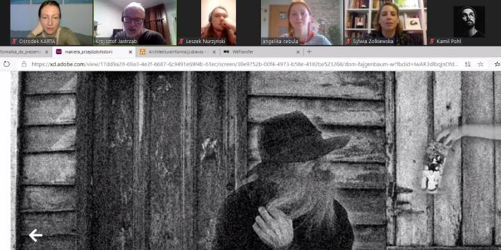 zrzut ekranu ze spotkania on line