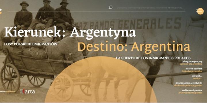 zrzut ekranu portal Kierunek Argentyna