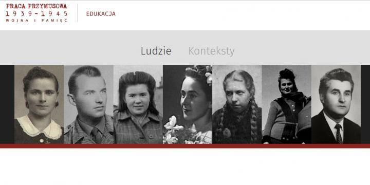 zrzut ekranu portal Wojna i Pamięć